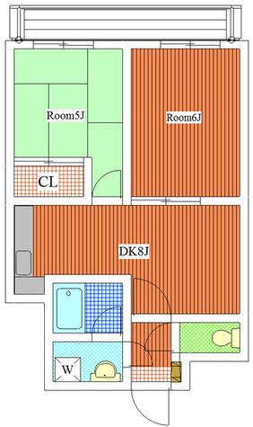 パストラル野沢壱番館 / 205 部屋画像1