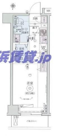 リヴシティ横濱インサイトⅡ / 3階 部屋画像1
