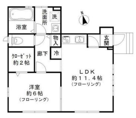リバーアイル / 1階 部屋画像1