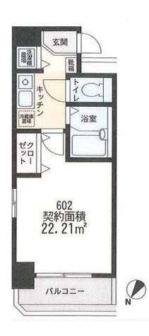 アーク横浜東白楽 / 4階 部屋画像1