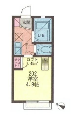 イデアルハイム川崎 / 2階 部屋画像1