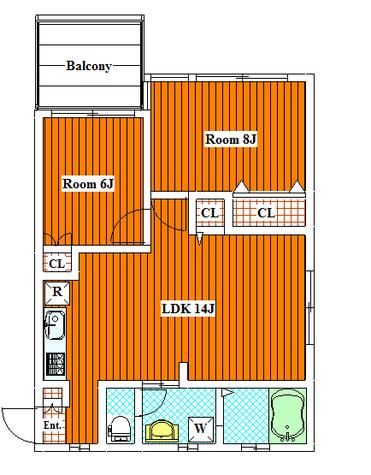 ヒルサイドヴィラ / B103 部屋画像1