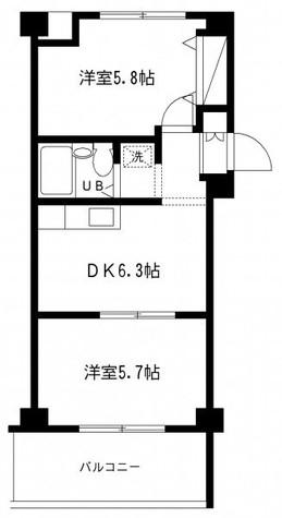 仙台坂アルカディア / 2階 部屋画像1