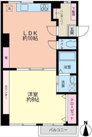クオン山手 / 4階 部屋画像1
