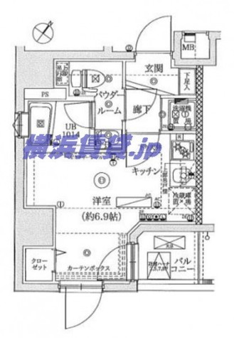 レーヴ横浜蒔田フェルクルール / 2階 部屋画像1