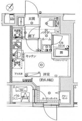 レーヴ横浜蒔田フェルクルール / 4階 部屋画像1