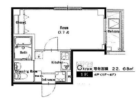 ソレーユ川崎 / 2階 部屋画像1