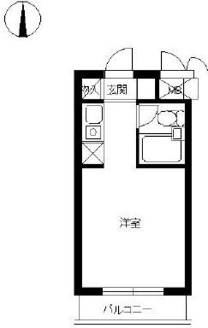スカイコート元住吉2 / 3階 部屋画像1