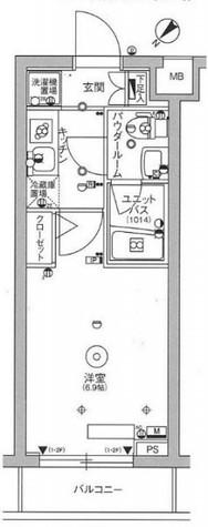 スカイコート品川パークサイドⅢ / 3階 部屋画像1