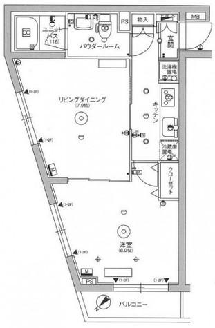 スカイコート品川パークサイドⅢ / 201 部屋画像1