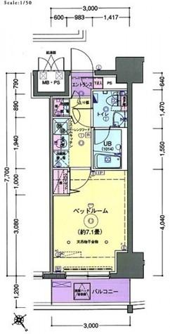グランフォース横浜伊勢佐木町 / 5階 部屋画像1