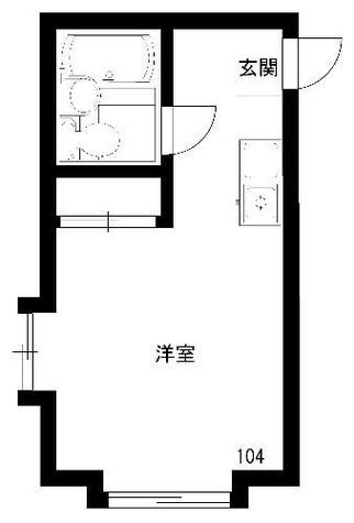 パンシオン鶴見 / 1階 部屋画像1