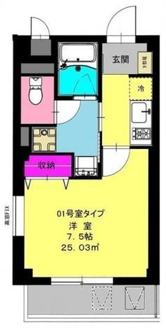 b'CASA Kawasaki daishi(ビーカーサ川崎大師) / 2階 部屋画像1