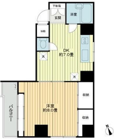 ラインビルド新宿御苑 / 2階 部屋画像1