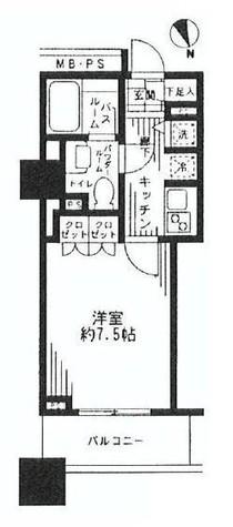 シティタワー横濱(シティタワー横浜) / 8階 部屋画像1