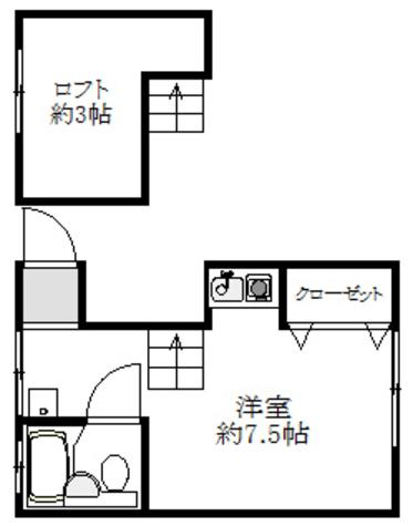 壱番館小林 / 2階 部屋画像1