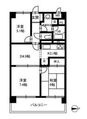さくらガーデンプレイス / 3階 部屋画像1