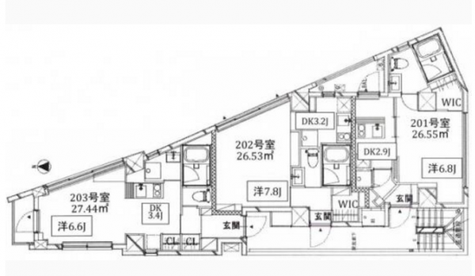Kukai Terrace恵比寿 / 3階 部屋画像1