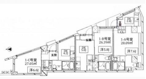 Kukai Terrace恵比寿 / 1階 部屋画像1