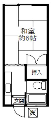 小玉荘 / 204 部屋画像1