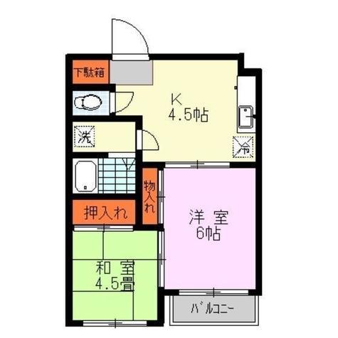 ハイツ・クマガイ / 3階 部屋画像1