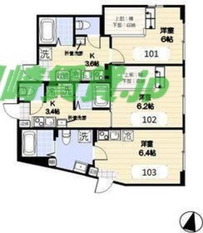 エールドランジュ武蔵小杉 / 1階 部屋画像1