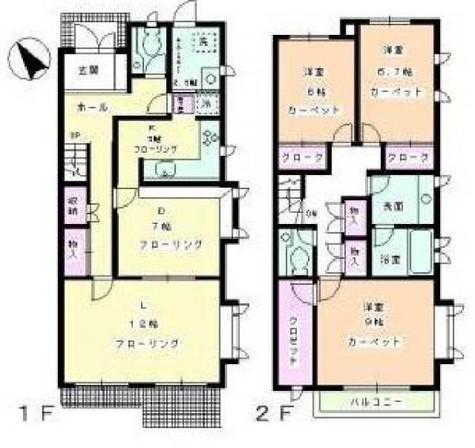 ヴェルドミール深沢A、B、C / 1階 部屋画像1