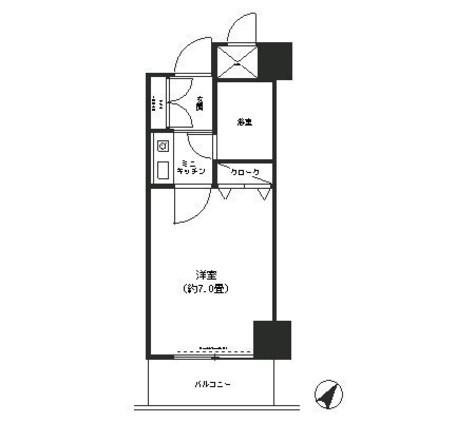 コシノパークサイドビル / 5階 部屋画像1