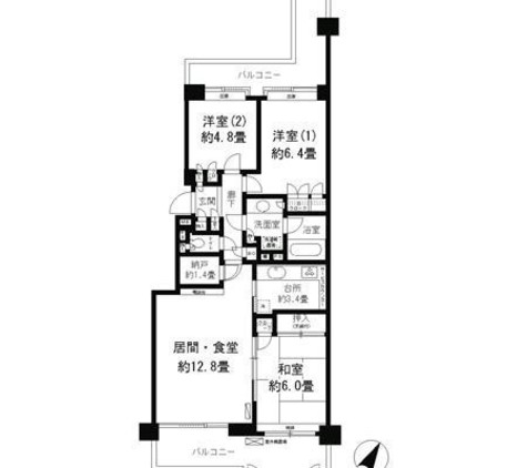 パークシティ本牧B棟 / 8階 部屋画像1