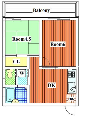 パークアレー / 4階 部屋画像1