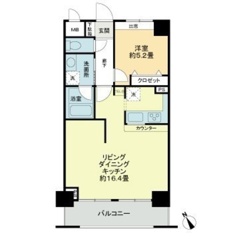 ロワレール横浜本町県庁前 / 5階 部屋画像1