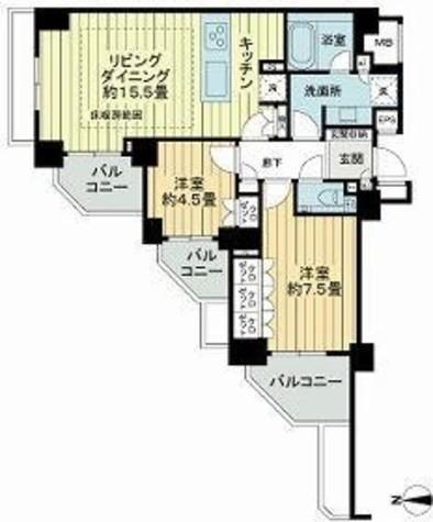 ライオンズ外苑の杜 / 1階 部屋画像1