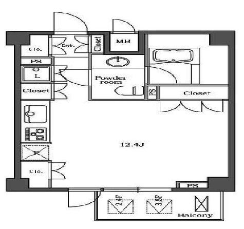 ステラメゾン白金台(旧パシフィックリビュー白金台) / 2階 部屋画像1