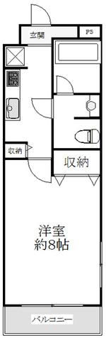 ハイツグランディ本八幡 / 1階 部屋画像1