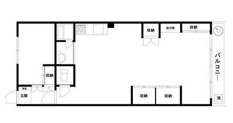 松風園コーポ / 1階 部屋画像1