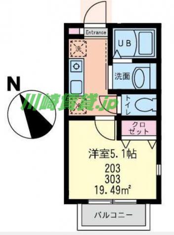 グランノーブル鶴見 / 2階 部屋画像1