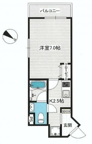 スカイヒルズ目黒 / 1階 部屋画像1