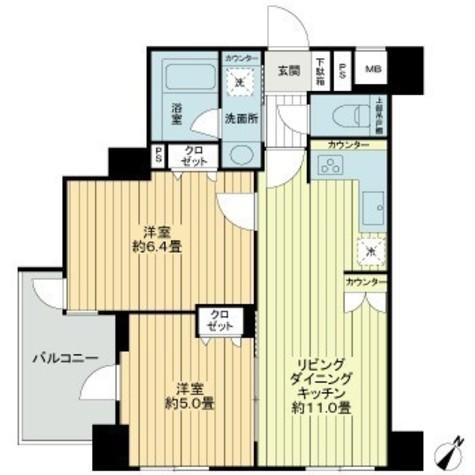 リブゼ横浜ルーアクララ / 4階 部屋画像1