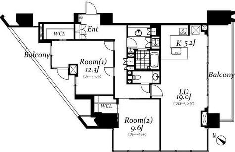 ザ・パークハウス グラン 千鳥ヶ淵 / 11階 部屋画像1
