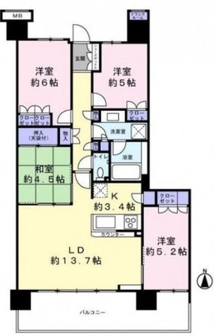 フォレシアムエアリーハウス / 9階 部屋画像1