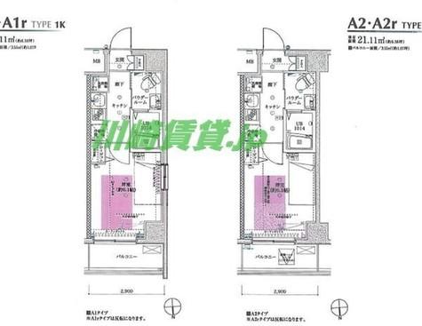 フェルクルールプレスト川崎アリビエ / 6階 部屋画像1