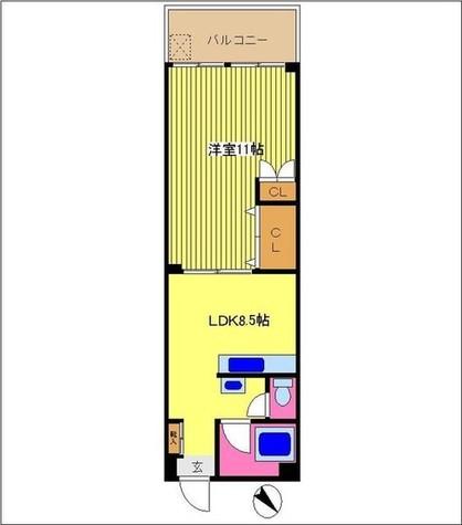 マンション壁装館 / 3階 部屋画像1