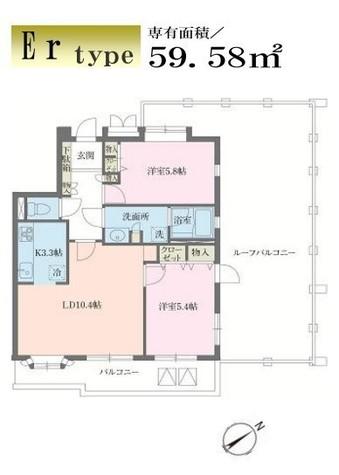 磯子台スカイマンション / 6階 部屋画像1