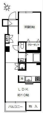 自由が丘フラワーマンション / 2階 部屋画像1