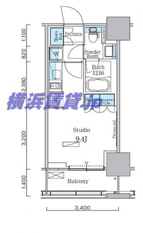 パークアクシス横濱関内スクエア / 1411 部屋画像1