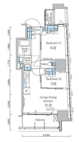 パークアクシス横濱関内スクエア / 601 部屋画像1