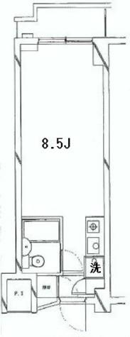 三越ゼームス坂マンション / 1階 部屋画像1