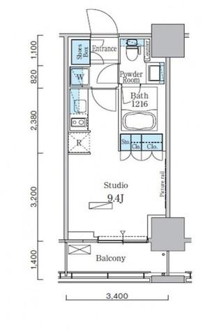 パークアクシス横濱関内スクエア / 13階 部屋画像1