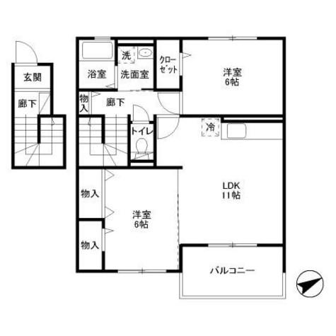 iスクエアwill / 2階 部屋画像1