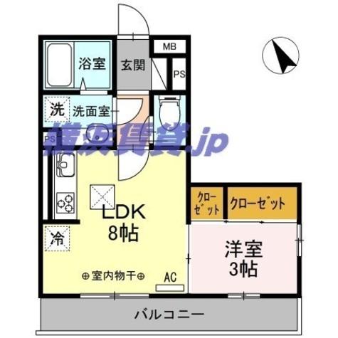 ハイム羽沢十番館 / 3階 部屋画像1